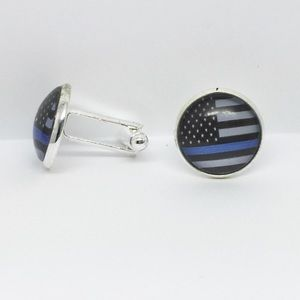 Other - Thin Blue Line Police Flag Cuff Links